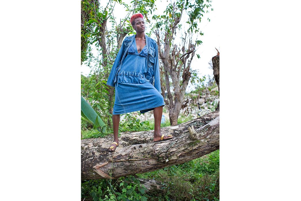 Kapital's-Yardie-Blues-Lookbook-Meanders-Through-Jamaica-and-Misadventure-female-on-tree