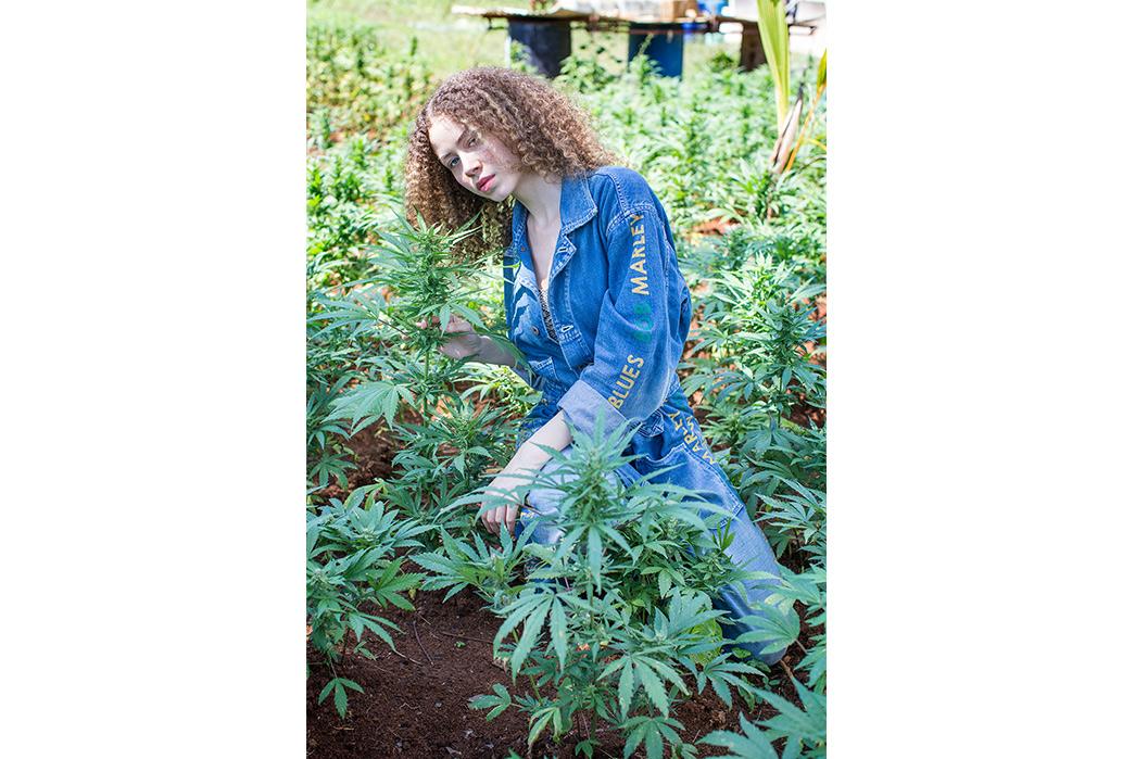 Kapital's-Yardie-Blues-Lookbook-Meanders-Through-Jamaica-and-Misadventure-female-with-marihuanna