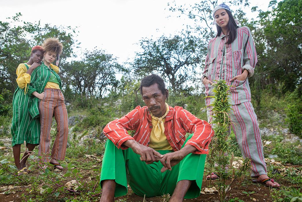 Kapital's-Yardie-Blues-Lookbook-Meanders-Through-Jamaica-and-Misadventure-four-models