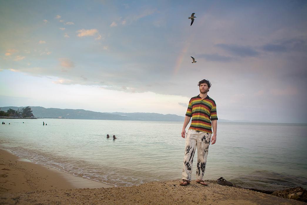 Kapital's-Yardie-Blues-Lookbook-Meanders-Through-Jamaica-and-Misadventure-male-on-beach