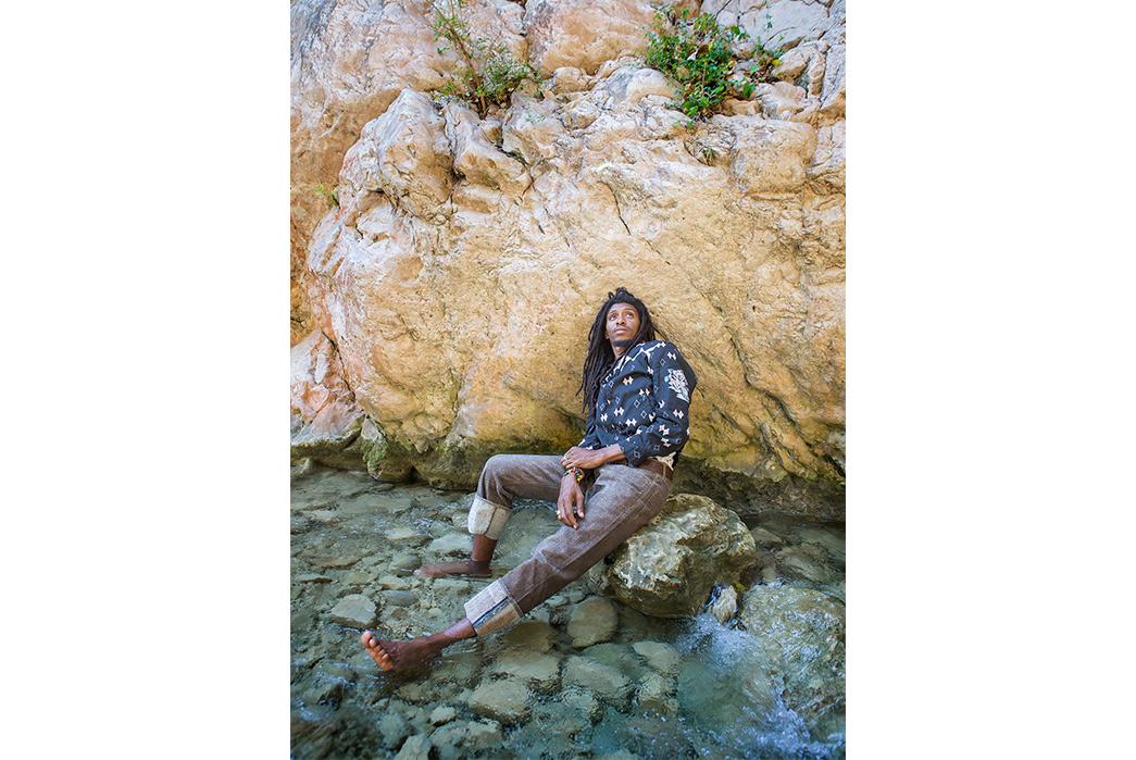 Kapital's-Yardie-Blues-Lookbook-Meanders-Through-Jamaica-and-Misadventure-male-on-river