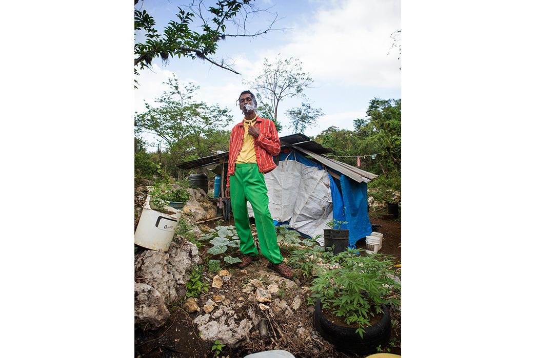 Kapital's-Yardie-Blues-Lookbook-Meanders-Through-Jamaica-and-Misadventure-male-smoking-marihuanna