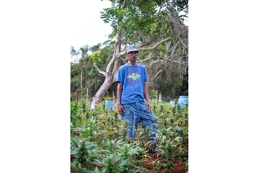 Kapital's-Yardie-Blues-Lookbook-Meanders-Through-Jamaica-and-Misadventure-male-with-marihuanna