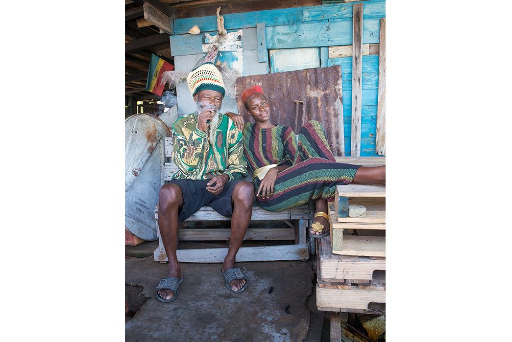 Kapital's-Yardie-Blues-Lookbook-Meanders-Through-Jamaica-and-Misadventure-two-models-one-smoking