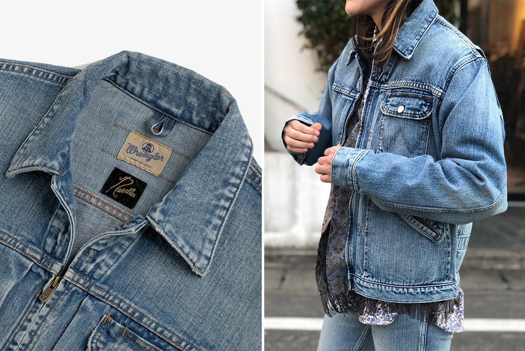Needles-x-Wrangler-MJZ-Jackets-light-blue-collar-and-front-model
