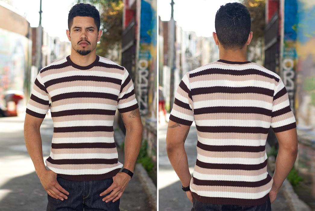 Stevenson-Endless-Drop-Summer-Knit-Shirts-model-brown-front-back