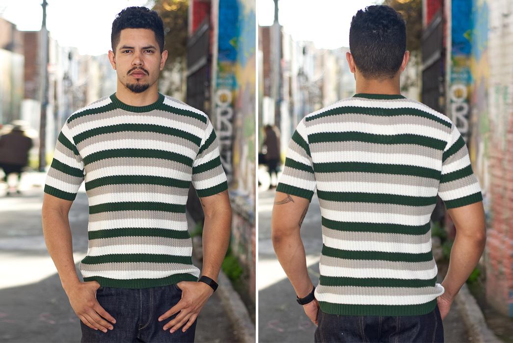 Stevenson-Endless-Drop-Summer-Knit-Shirts-model-front-back