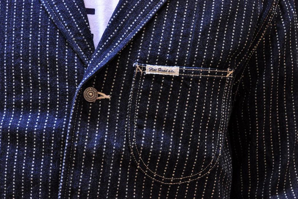 The-Flat-Head-12oz.-Indigo-Dyed-Wabash-Blazer-model-front-pocket