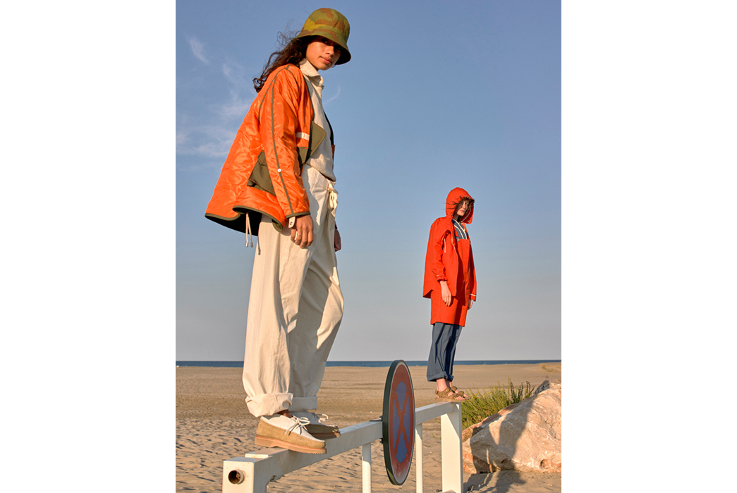 W'menswear-Spring-Summer-2019-on-female-in-orange-jacket-and-second-in-red
