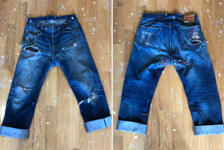 Fade-of-the-Day---Levi's-Vintage-Clothing-1933-501-(3-Years,-3-Washes)-front-back
