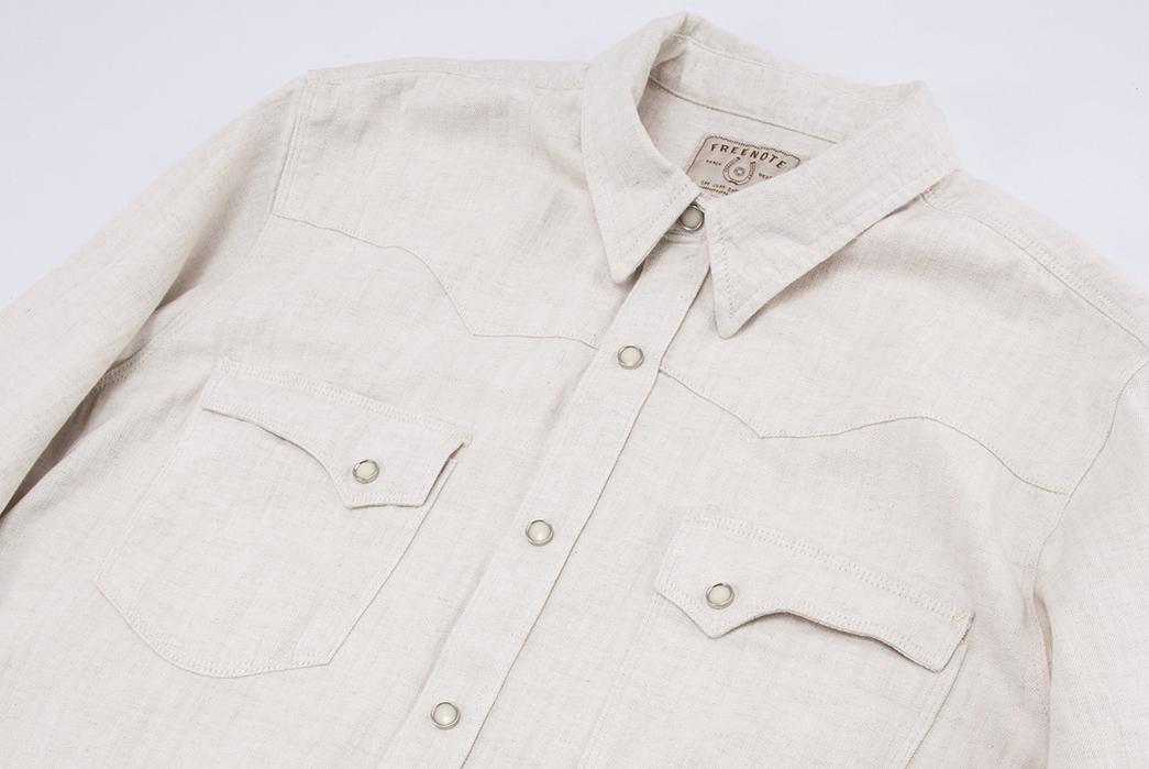 Freenote-Calico-Cream-Shirt-front-angle