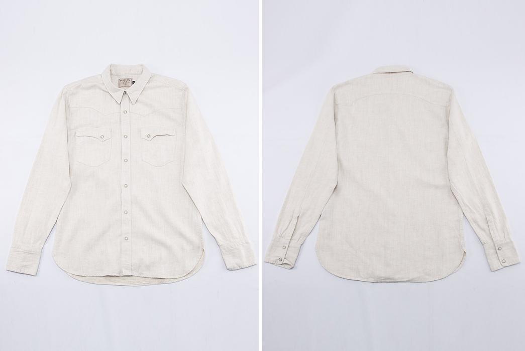 Freenote-Calico-Cream-Shirt-front-back