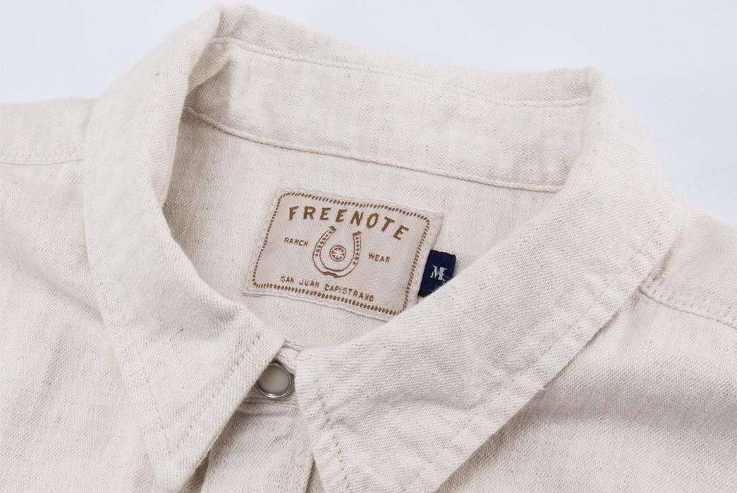 Freenote-Calico-Cream-Shirt-front-collar