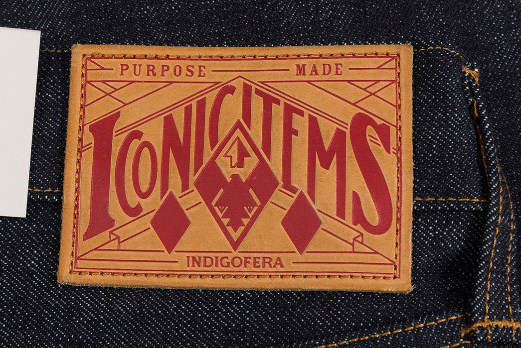 Indigofera-Clint-18oz.-Shiroyama-Selvedge-Denim-back-leather-patch