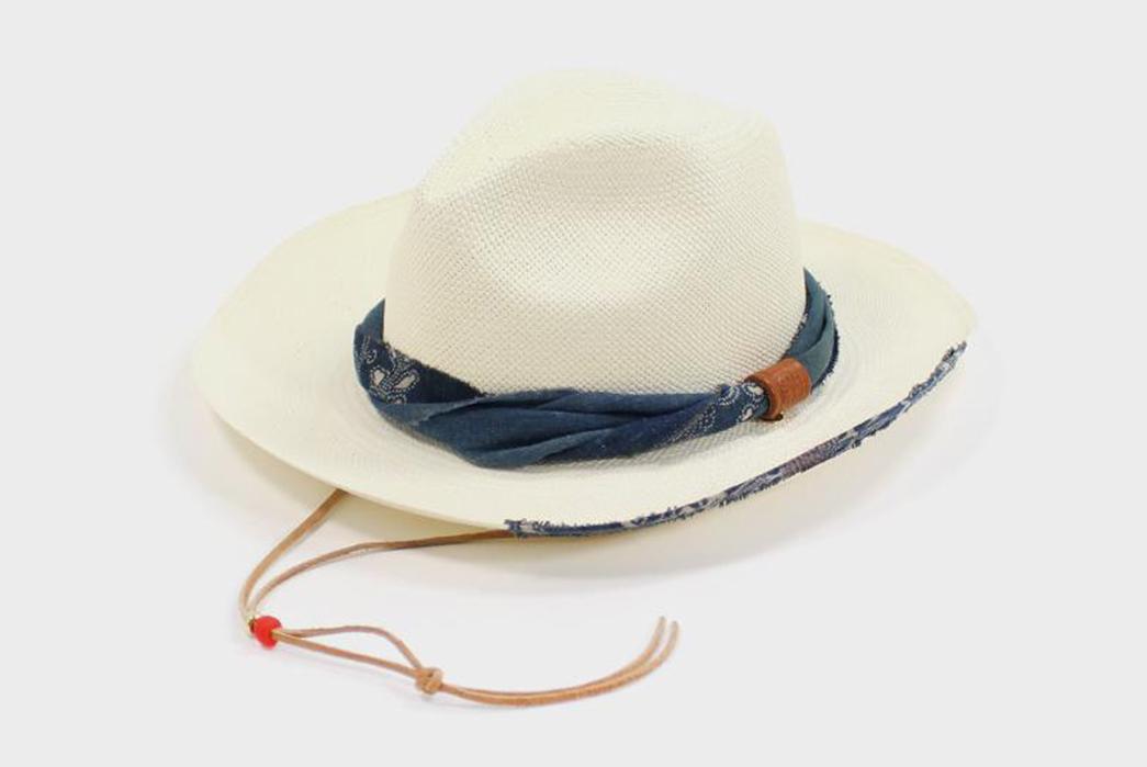 Kiriko-Wraps-Handwoven-Panama-Hats-with-Vintage-Japanese-Fabrics-white-with-blue-belt