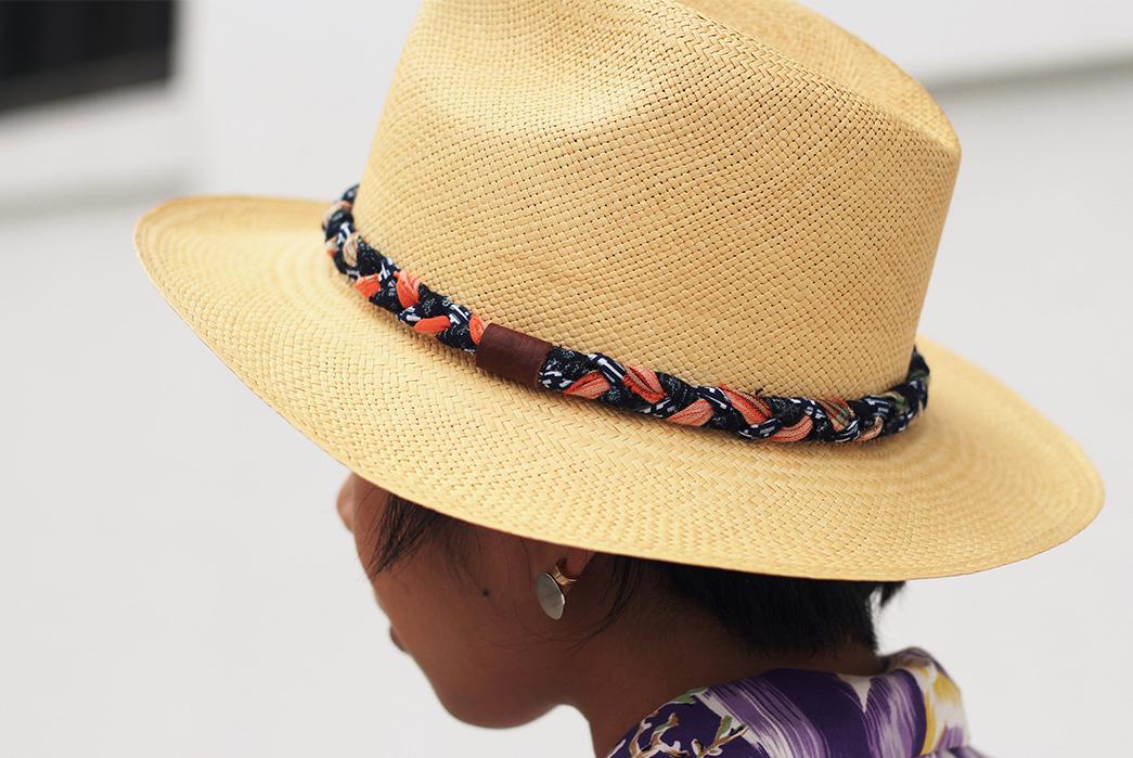 Kiriko-Wraps-Handwoven-Panama-Hats-with-Vintage-Japanese-Fabrics