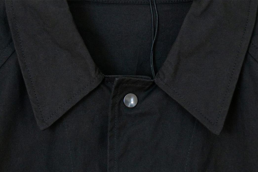 Margaret-Howell-Simple-Mac-front-collar-black