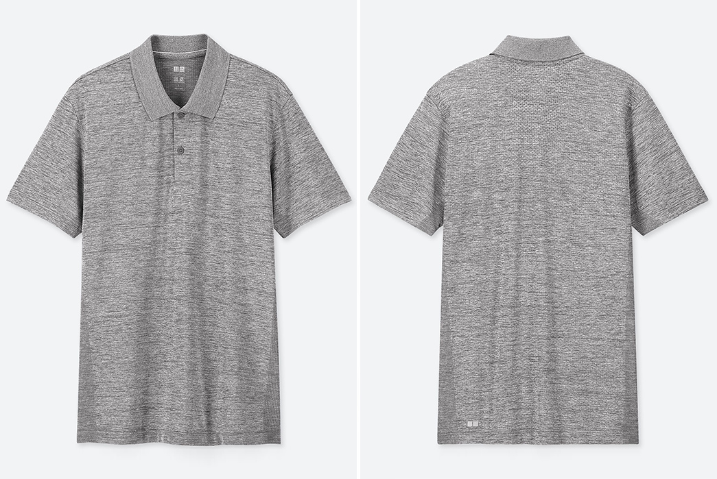 Polo-Shirts---Five-Plus-One 1) Uniqlo: Dry-Ex Polo