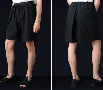 Prospective-Flow-Tanma-Shorts-black-model-front-back