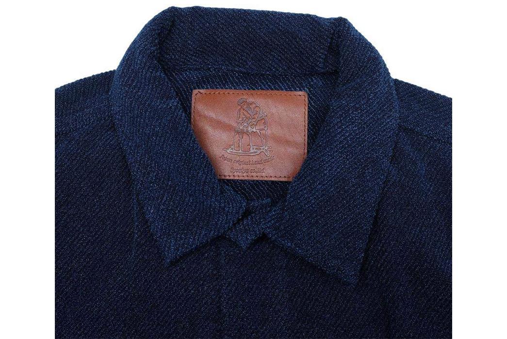Pure-Blue-Japan-Indigo-Dyed-Towel-Type-II-Jacket-front-collar