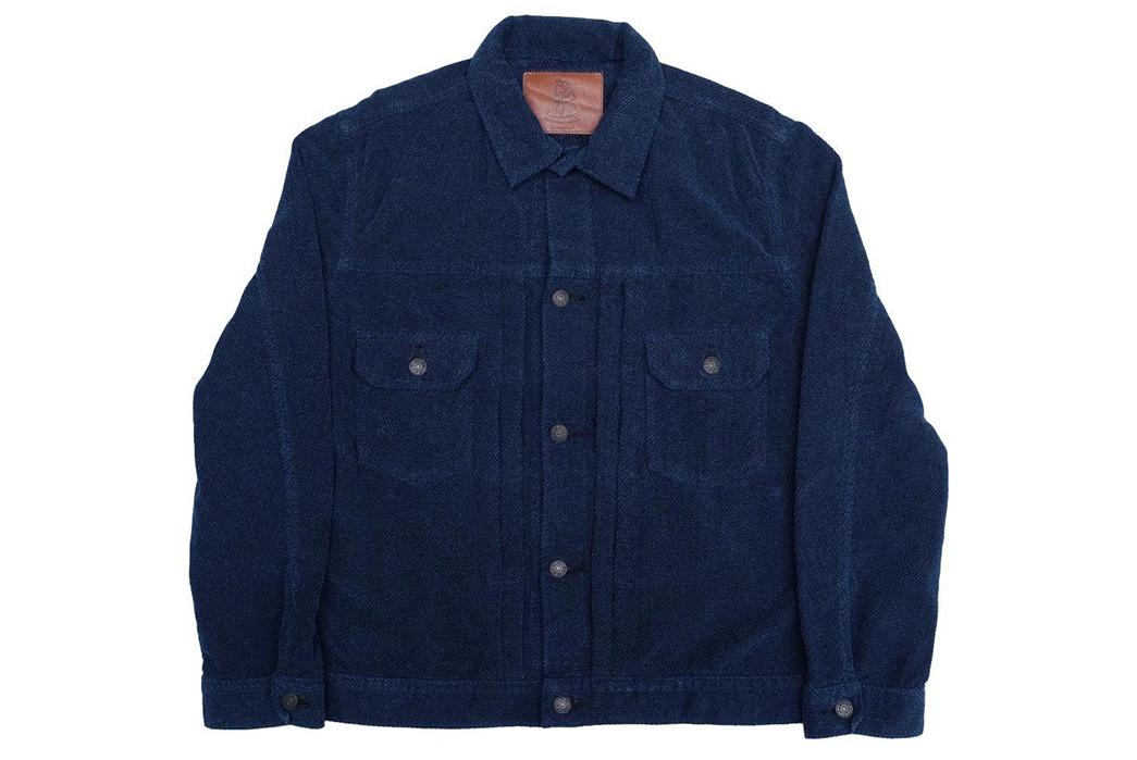 Pure-Blue-Japan-Indigo-Dyed-Towel-Type-II-Jacket-front