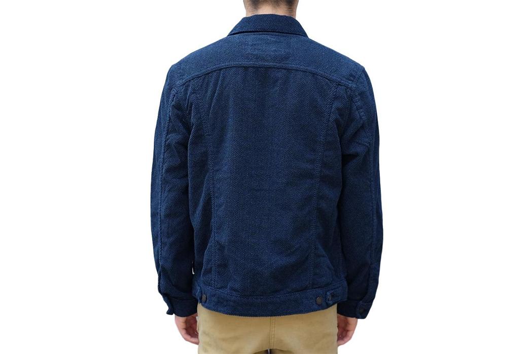 Pure-Blue-Japan-Indigo-Dyed-Towel-Type-II-Jacket-model-back