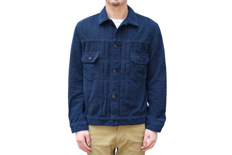 Pure-Blue-Japan-Indigo-Dyed-Towel-Type-II-Jacket-model-front</a>