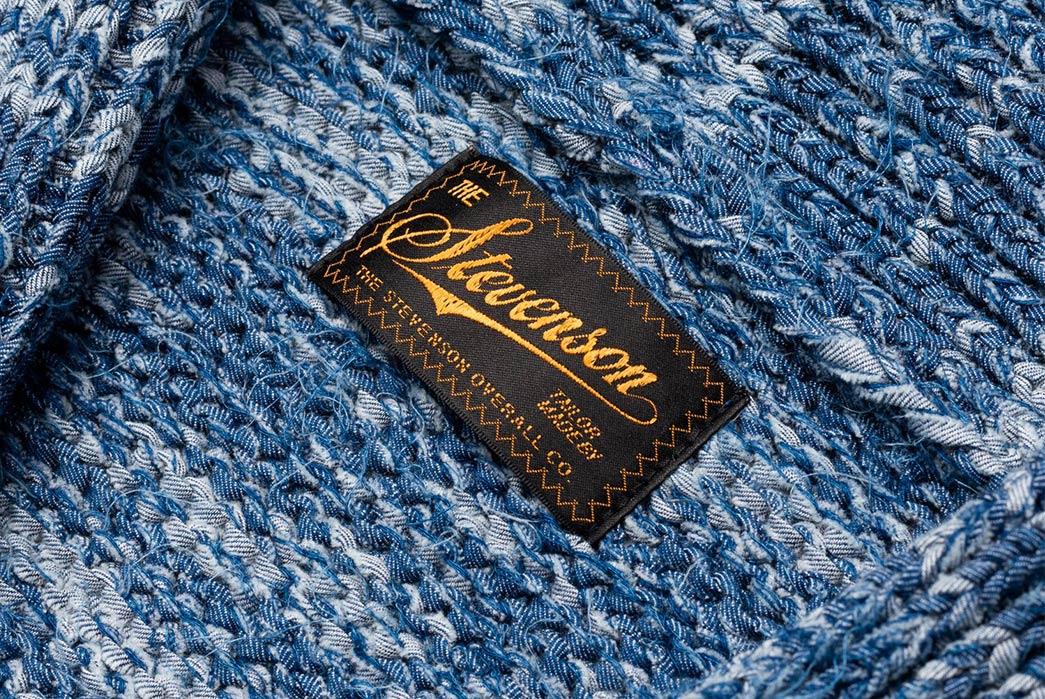 Stevenson's-Hand-Woven-Cardigan-is-Made-with-Shredded-Denim-brand