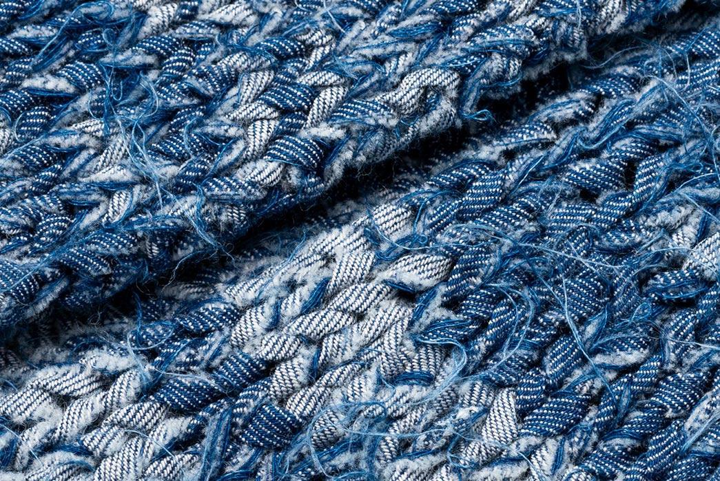 Stevenson's-Hand-Woven-Cardigan-is-Made-with-Shredded-Denim-detailed
