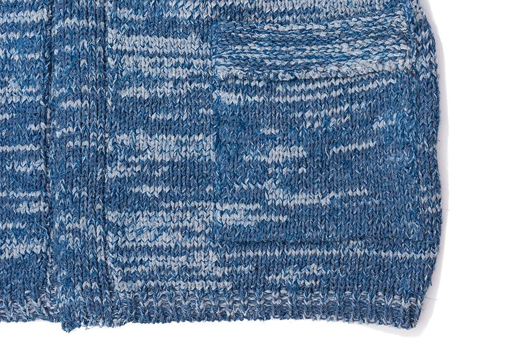 Stevenson's-Hand-Woven-Cardigan-is-Made-with-Shredded-Denim-pocket
