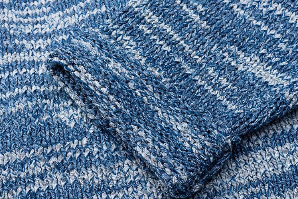 Stevenson's-Hand-Woven-Cardigan-is-Made-with-Shredded-Denim--sleeve