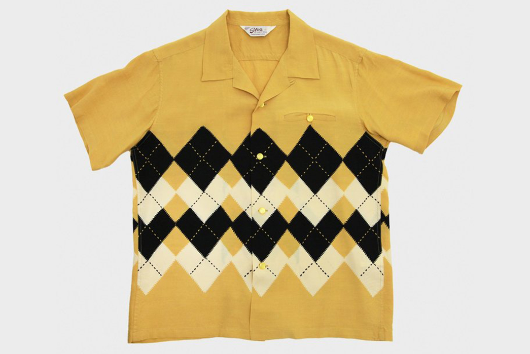 Sugar-Cane-Spins-a-Set-High-Density-Rayon-Shirts-black-white-and-yellow-front
