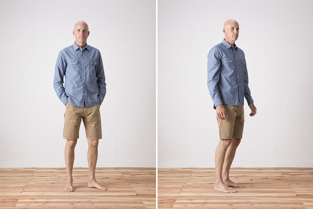 Tellason-Fatigue-Short-beige-model-front-side