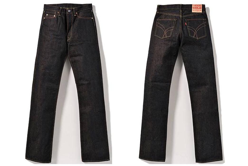 The-Strike-Gold-SG2103-Raw-Denim-Jeans-front-back