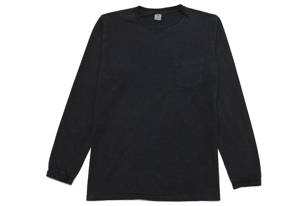Velva-Sheen-Pigment-Dyed-T-Shirts-black-logn-sleeves