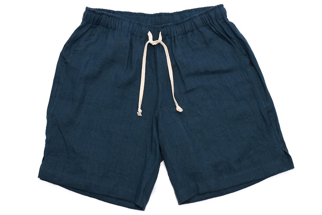Alex-Crane-Linen-Drawstring-Shorts-blue