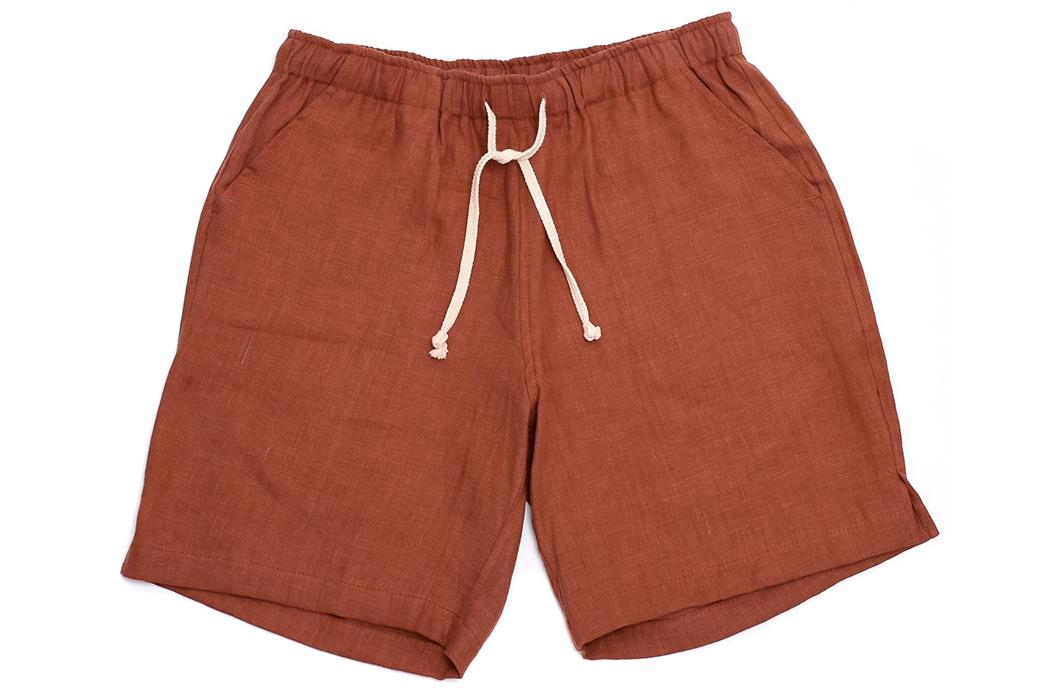 Alex-Crane-Linen-Drawstring-Shorts-red-brown