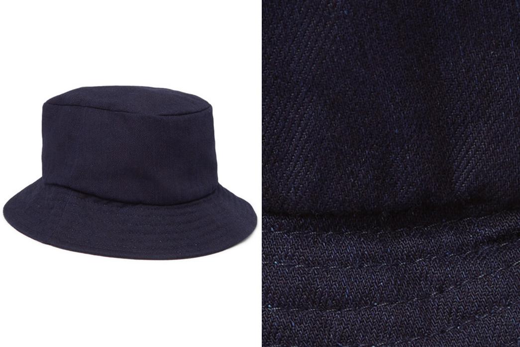 Bucket-Hats---Five-Plus-One-3)-Freemans-Sporting-Club-Denim-Bucket-Hat