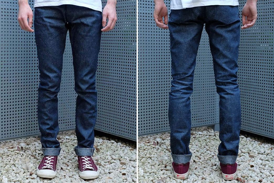 Japan-Blue-10oz.-Dog-Days-Nep-Selvedge-Jeans-model-front-back