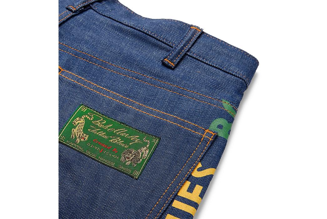 Kapital-Bob-Marley-Wide-Leg-Printed-Denim-Jeans-back-top-right-pocket