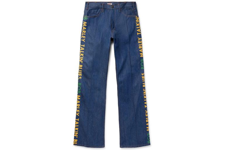 Kapital-Bob-Marley-Wide-Leg-Printed-Denim-Jeans-front</a>