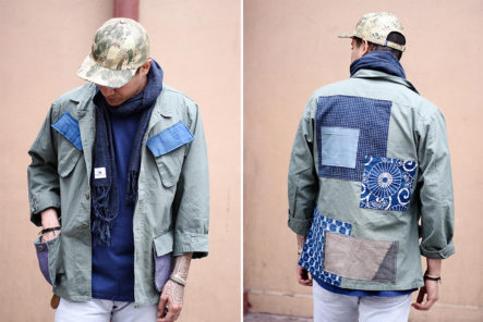 Kiriko-Patched-Military-Jackets-model-front-back