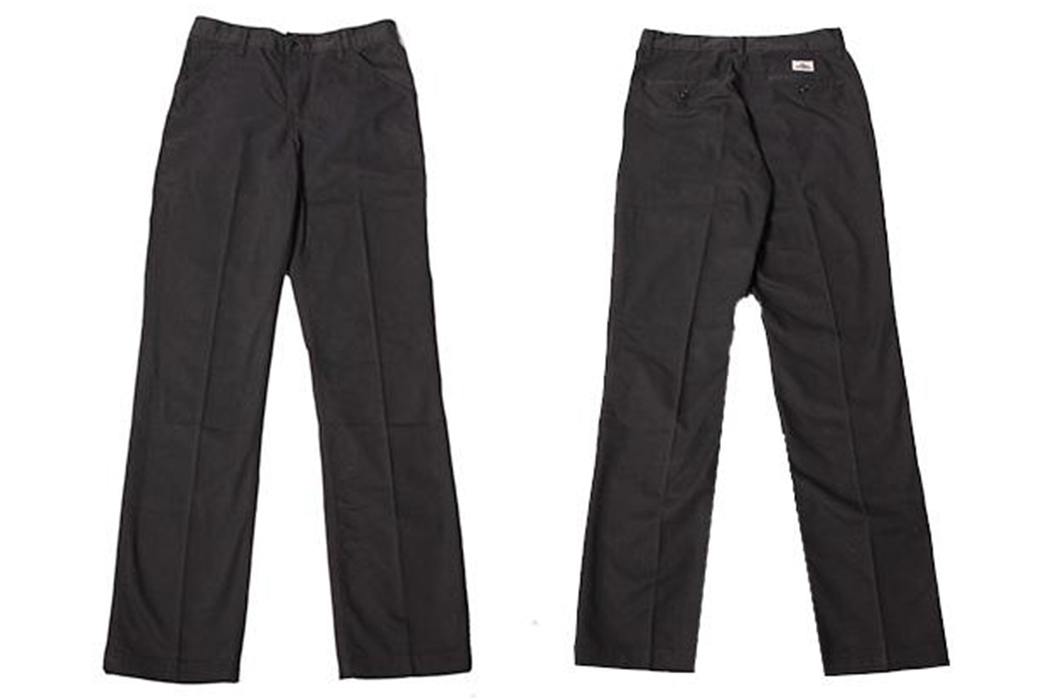 Left-Field-Expands-Their-Work-Uniform-Collection-with-Twill-Chinos-black-front-and-back