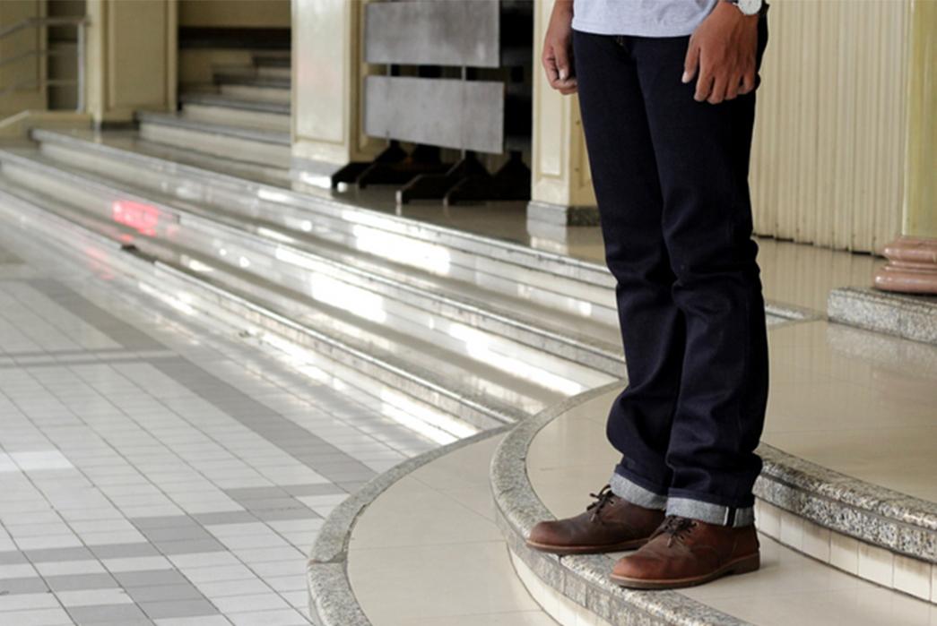 NBDN-Golden-Leviathan-Raw-Denim-Jeans-model-side