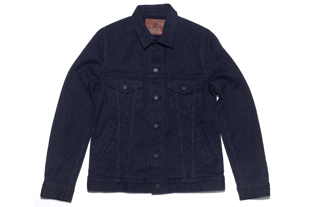 Pure-Blue-Japan-SasPure-Blue-Japan-Sashiko-Denim-Type-3-Jacket-fronthiko-Denim-Type-3-Jacket-front