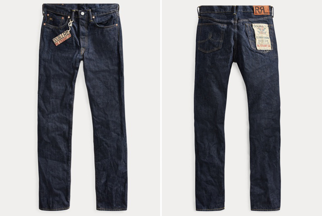 RRL-Straight-Fit-Selvedge-Raw-Denim-Jeans-front-back