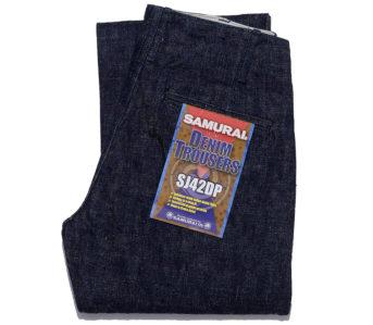 Samurai-Cuts-a-Pair-of-Dressy-Heavyweight-Denim-Trousers