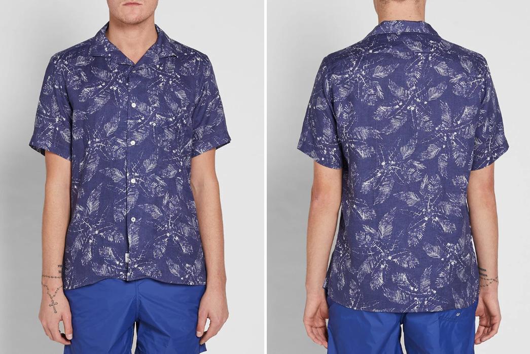 Short-Sleeved,-Patterned-Linen-Shirts---Five-Plus-One-5)-Hartford-Slam-Palm-Linen-Shirt