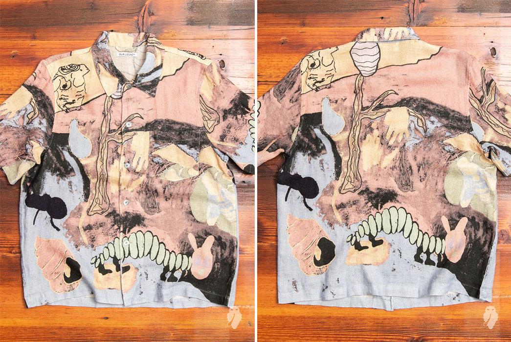 Short-Sleeved,-Patterned-Linen-Shirts---Five-Plus-One-Plus-One---Our-Legacy-Box-Short-Sleeve-Shirt-in-Acid-Landscape-Print-Linen