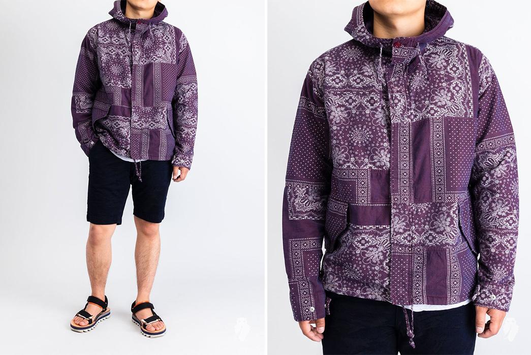 Soulive's-Ranru-Shirts-are-Bandanas,-B-A-N-D-A-N-A-S-jacket-purple-model-front